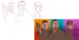 Blade Runner 2049 alternative movie poster process