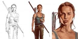 Tomb Raider alternative movie poster process