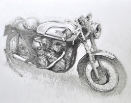 Triton motorcycle drawing