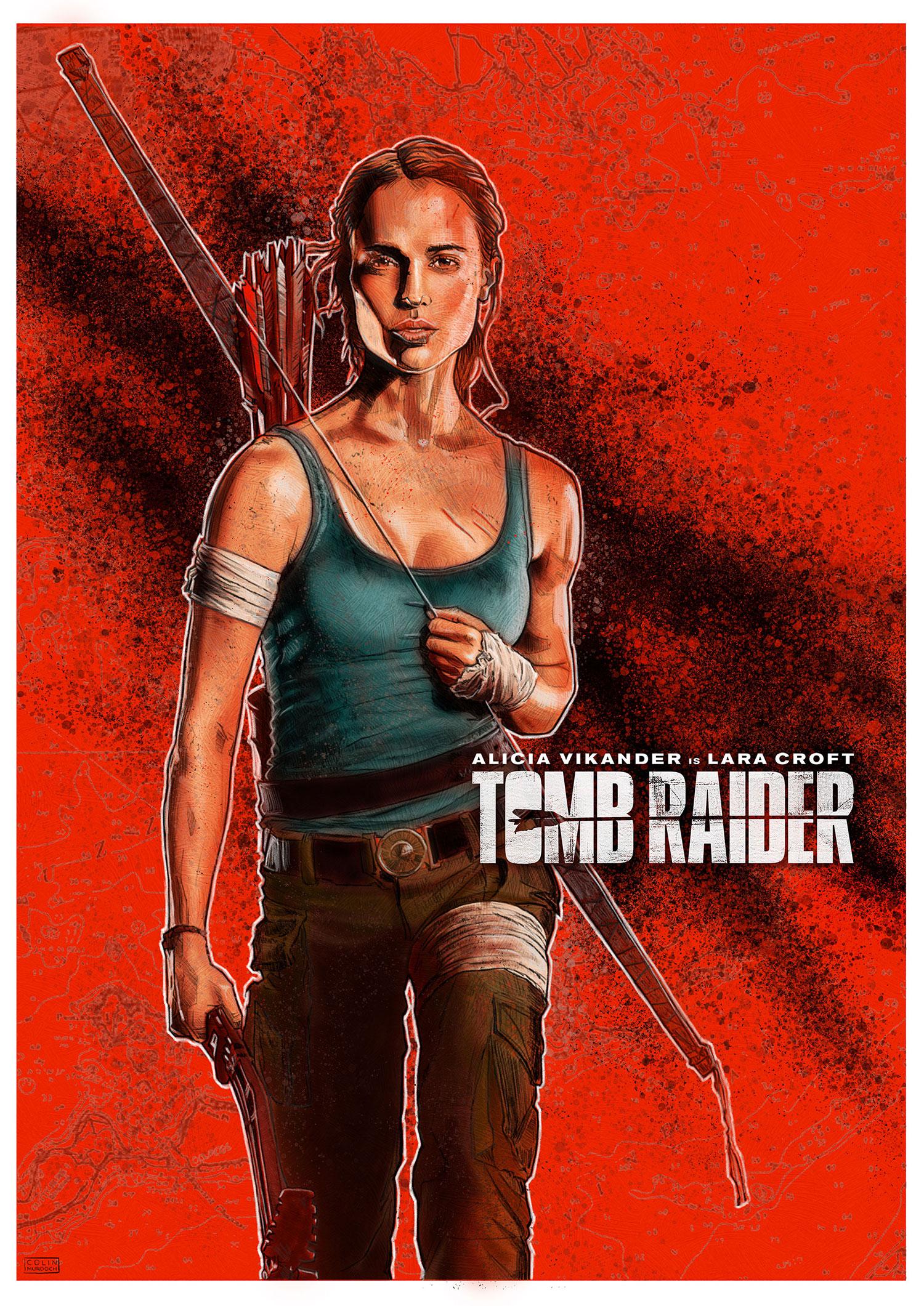 Tomb Raider Alternative Movie Poster Colin Murdoch Illustration