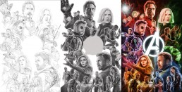 Avengers Infinity War alternative movie poster process
