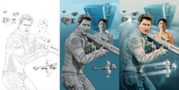 Oblivion Alternative Movie Poster Process