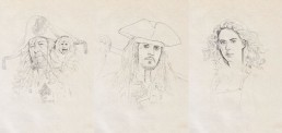 Pirates of the Caribbean drawing process