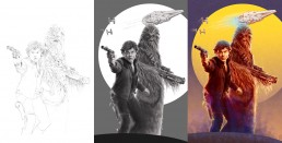 solo-alternative-movie-poster-process