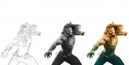 Aquaman alternative movie poster process