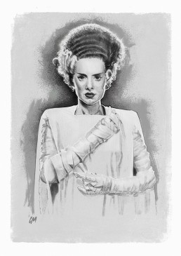 the bride of frankenstein illustration