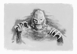 creature from the black lagoon illustration