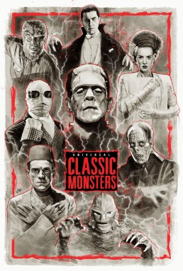 universal classic monsters poster
