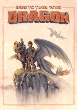 how to train your dragon alternative movie poster
