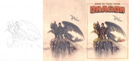 how to train your dragon alternative movie poster process