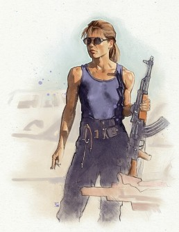 sarah connor alternative movie poster