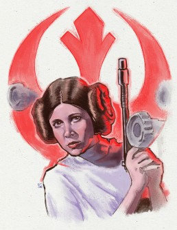 princess leia alternative movie poster