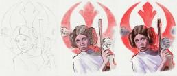 princess leia alternative movie poster process
