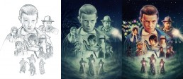stranger things alternative poster process
