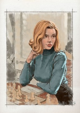 queens-gambit-sketch-painting