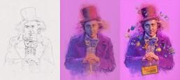 willy-wonka-alternative-movie-poster-process
